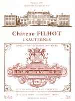 Château Filhot 2003